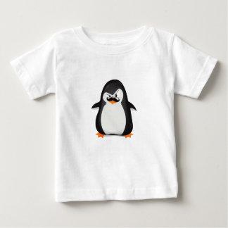 T-shirt Pour Bébé Pingouin blanc noir mignon et moustache drôle