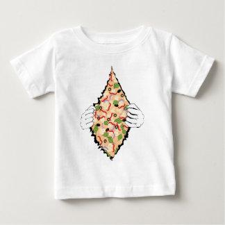 T-shirt Pour Bébé Pizza savoureuse de bande dessinée et Hands4