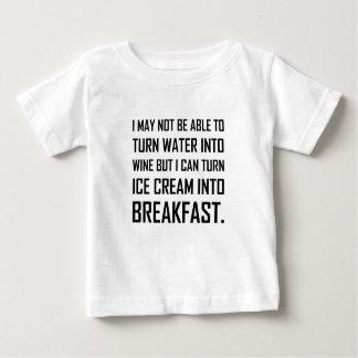 T-shirt Pour Bébé Plaisanterie de petit déjeuner de crème glacée de