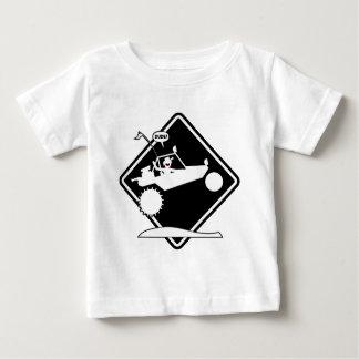 T-shirt Pour Bébé Plaquette de précaution d'AIR de RAIL de SABLE