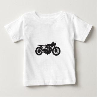 T-shirt Pour Bébé Pochoir de cool de cru de moto de coureur/gosse de