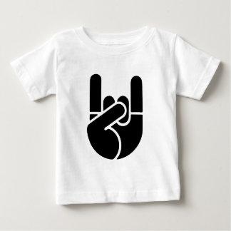 T-shirt Pour Bébé Pochoir de main de roche