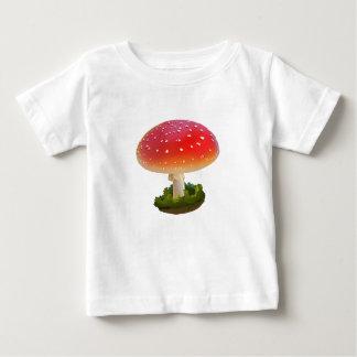 T-shirt Pour Bébé Points rouges de blanc d'art de champignon
