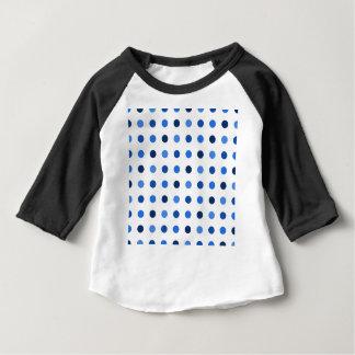 T-shirt Pour Bébé Pois bleu