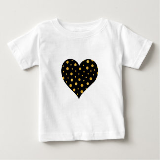 T-shirt Pour Bébé Pois élégant - or noir