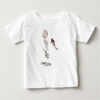 T-shirt Pour Bébé Poissons de Koi d'aquarelle
