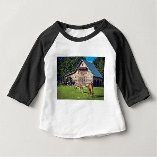 T-shirt Pour Bébé Poneys à la ferme