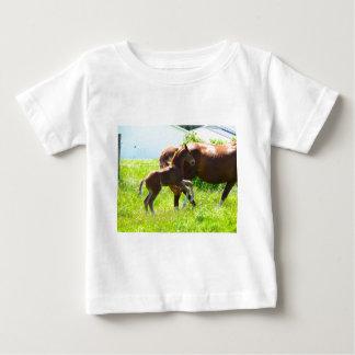 T-shirt Pour Bébé Poulain de bébé de poney de cheval mignon