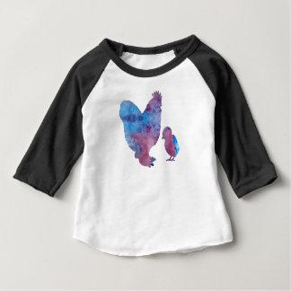T-shirt Pour Bébé Poulets