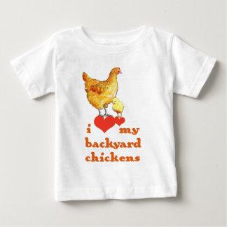 T-shirt Pour Bébé Poulets de jardin
