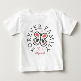 T-shirt Pour Bébé Pour toujours cadeau rose d'adoption de papillon