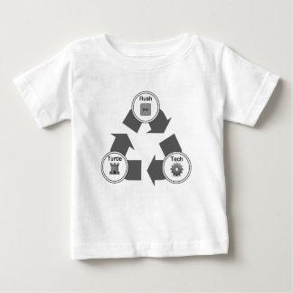 T-shirt Pour Bébé Précipitation/tortue/technologie