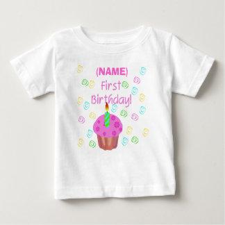 T-shirt Pour Bébé Premier anniversaire de petit gâteau rose