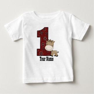 T-shirt Pour Bébé Premier cheval de cowboy d'anniversaire