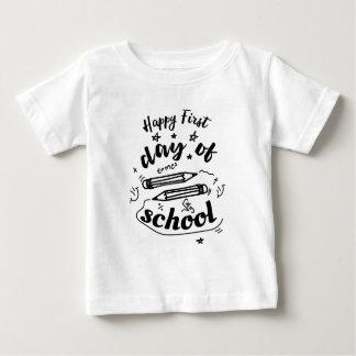 T-shirt Pour Bébé Premier jour heureux d'école