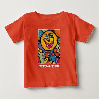 T-shirt Pour Bébé Printemps - orange - morceaux de temps