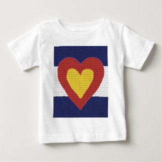 T-shirt Pour Bébé Produits de drapeau du Colorado du coeur I !