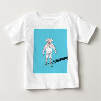 """T-shirt Pour Bébé Produits """"z'animo"""", le Cochon"""