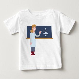 T-shirt Pour Bébé Professeur de maths