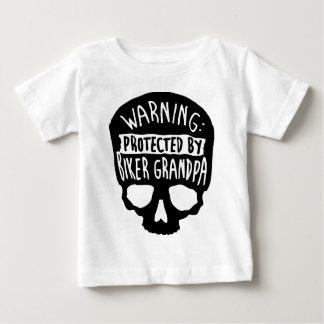 T-shirt Pour Bébé Protégé par un grand-papa de cycliste