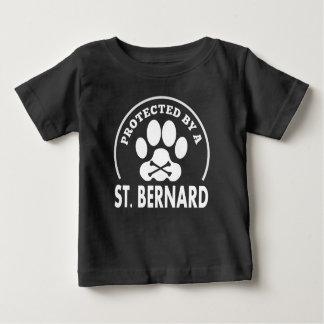 T-shirt Pour Bébé Protégé par un St Bernard
