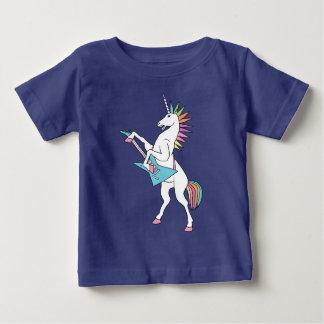 T-shirt Pour Bébé punk-roche-licorne-jouer-guitare-chemise