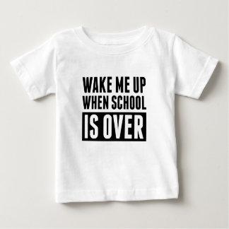 T-shirt Pour Bébé Quand l'école est terminée