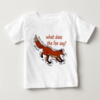 T-shirt Pour Bébé Que le renard fait-il disent-ils ?