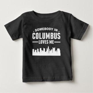T-shirt Pour Bébé Quelqu'un à Columbus m'aime