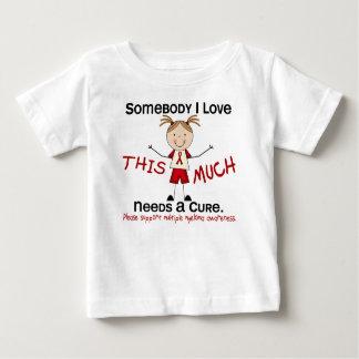 T-shirt Pour Bébé Quelqu'un amour d'I - myélome multiple (fille)