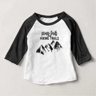 T-shirt Pour Bébé Queues et sentiers de randonnée de poney