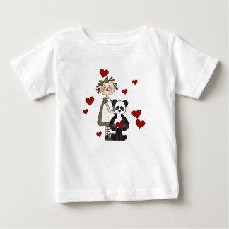 T-shirt Pour Bébé Ragdoll et Valentines de panda