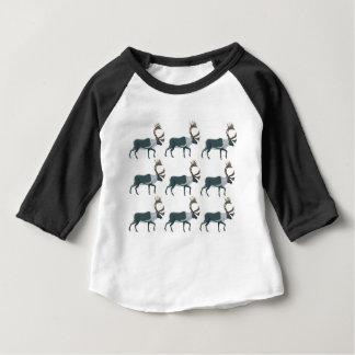 T-shirt Pour Bébé Rangées de caribou