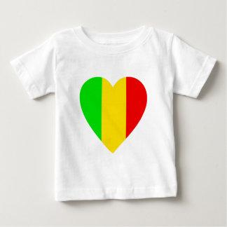 T-shirt Pour Bébé Rasta a coloré le coeur