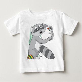 T-shirt Pour Bébé Raton laveur animal d'alphabet