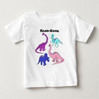"""T-shirt Pour Bébé """"Rawr-Quelque"""" pièce en t de dinosaure de fille"""