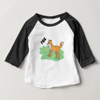T-shirt Pour Bébé renard dans le domaine