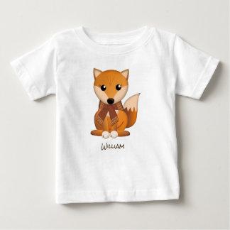 T-shirt Pour Bébé Renard mignon d'automne et nom de coutume