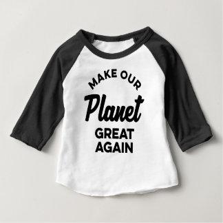 T-shirt Pour Bébé Rendez notre planète grande encore