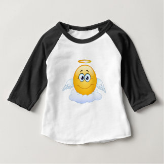 T-shirt Pour Bébé Repos dans l'ange Emoji de ciel de DÉCHIRURE de