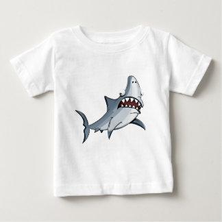 T-shirt Pour Bébé Requin bleu et gris de bande dessinée grand de