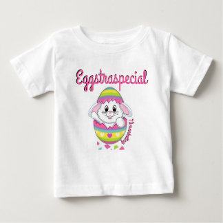 T-shirt Pour Bébé Ressort de chemise de bébé de Pâques de lapin