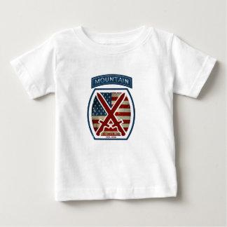 T-shirt Pour Bébé Rétro 10ème Division patriotique de montagne