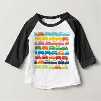T-shirt Pour Bébé Rétro illustration d'autobus de surf