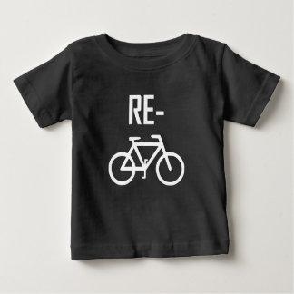 T-shirt Pour Bébé Réutilisez le vélo de bicyclette