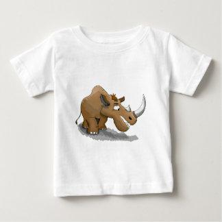 T-shirt Pour Bébé rhinocéros brun de bande dessinée avec un grand