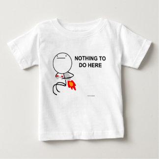 T-shirt Pour Bébé Rien à faire ici