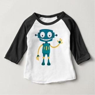 T-shirt Pour Bébé Robot bleu