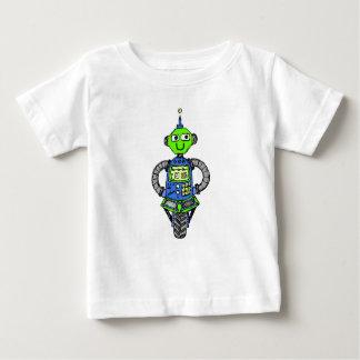 T-shirt Pour Bébé Robot, bleu et vert d'Arnie