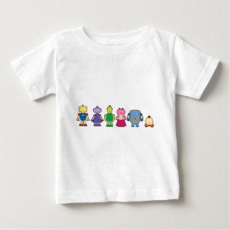 T-shirt Pour Bébé Robots mignons de bande dessinée
